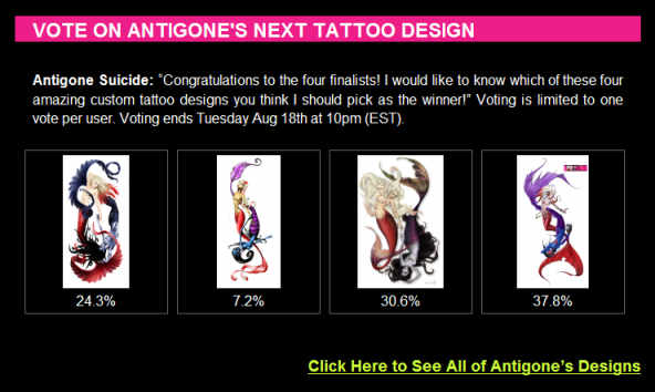 Antigone Suicide Custom Tattoo Design Contest