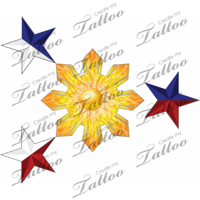 filipino sun tattoo. Filipino Flag. Rating: