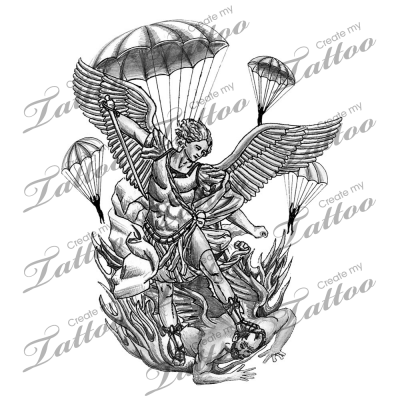 Michael Angel Tattoos on St Michael The Archangel Patron Of Paratroopers Tattoo