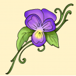 small pansy johnny jump up flower for ankle - flower4  RatingJohnny Jump Up Flower Tattoo